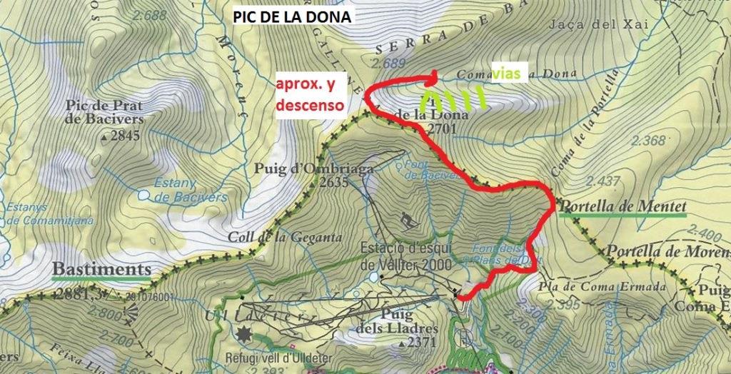 9 mapa aprox - vias Pic Dona