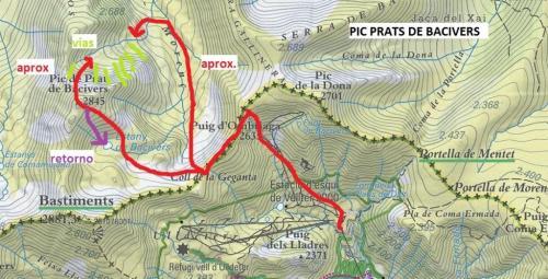 9 mapa aprox - vias Pic Prats Bacivers